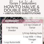 how to double and halve recipes