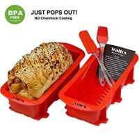 Nonstick Silicone Bread and Loaf Pan Set