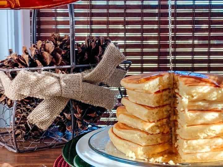fluffy eggnog pancakes