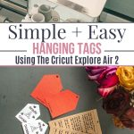 hanging tags with cricut explore